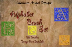 Alphabet Brush Set by Cheshire-Angel