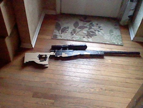 L96A1 Made From Cardboard! :D by callerofdeadthings