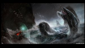 Sea Monster by RogierB