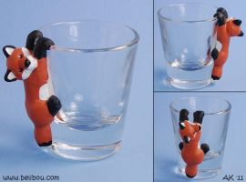 Fox shotglass by painteddog