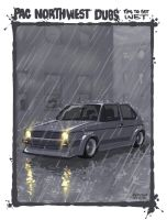 GTI in the rain by Usagisama