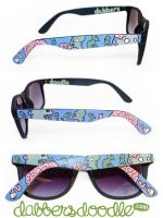 Zombies and Brains Sunglasses by DablurArt