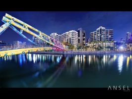 Alkaff Bridge Panorama by Draken413o