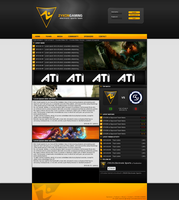 ZYKON gaming webdesign by exxor89