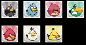 angry birds icon game by femfoyou
