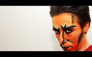 Lion King Scar Makeup Test - 2 by Kem2000
