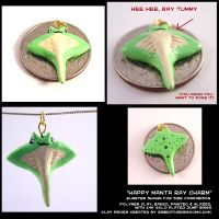 Happy Manta Ray Charm by CatharsisJB