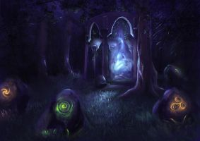 Forest temple by DragonsTrace