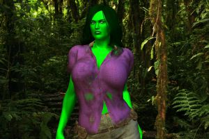 She-Hulk: Jungle Jenny by MattBrewer