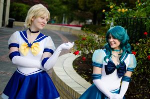 Eternal Sailor Uranus and Neptune by IronStitchCosplay