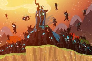Chrysalis army sundown by Light262