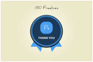 150 Badge (freebie by pixelcave) by pixelcave