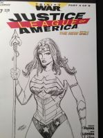 Wonder Woman JLA Sketch Cover by TheRiotRanger