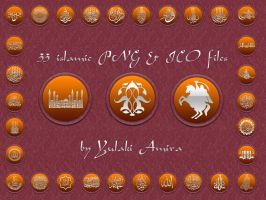 Islamic PNG and ico icons by amirajuli