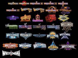 WWE WrestleMania Logos (1 to 31) by Zupaa3D