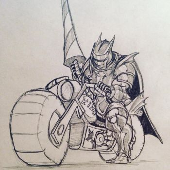 Bike knight by ZeePolarBear