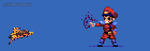 362/365 pixel art : Young Bison - Street Fighter by igorsandman