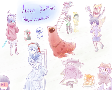 Happy Birthday Nightmargin! by Nikao56