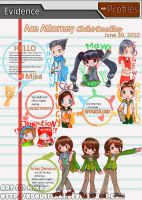 Ace Attorney Chibi Doodles by Sitraxis