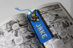 Custom bookmark with Eevee by StitchPlease