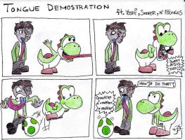 Tongue Demostration by EmoHoodieDude