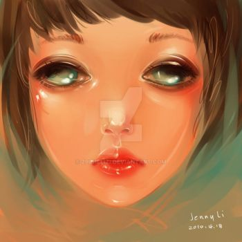 a girl's face by 29chelizi