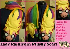 Lady Rainicorn Plushy Scarf by KeybladeFoxsquirrel