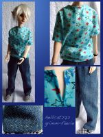 T-Shirt and Jeans by grimm-faerie