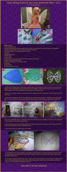 No Sew Fairy Wings Tutorial Part 1 of 2 by vickybunnyangel