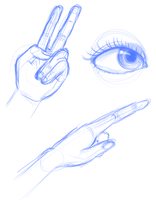 Hands and eye sketch by ClassicsAreDEAD