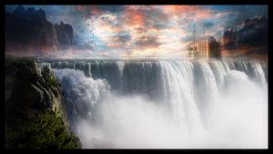 On the Waterfall by avkhatri123