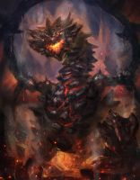 Lava Rock Dragon by CGlas