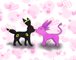 Umbreon and Espeon by CrazyInfin8