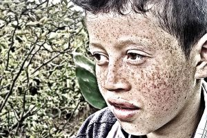 Child with freckles by maxjdgt