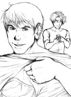 Hulkling and Wiccan: Cheer Up SKETCH by kay-sama