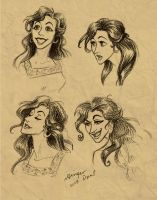 A few Loknich faces by GingerOpal