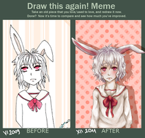 Draw This Again Meme by HetareHana