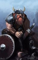 Shield Dwarf by SalvadorTrakal