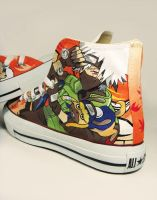Kakashi from Naruto , Custom Converse Painted by Annatarhouse
