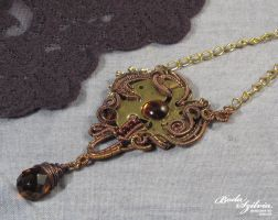 Steampunk necklace OOAK by bodaszilvia