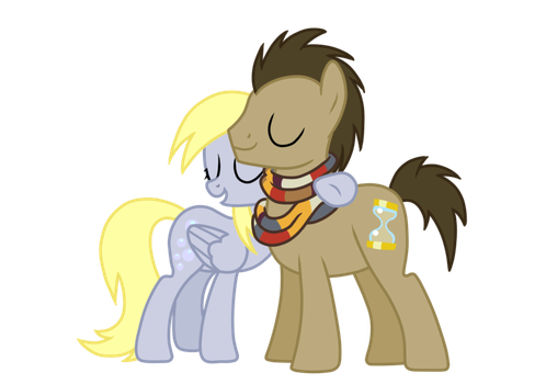 Dery and Doctor Whooves by FireGothic