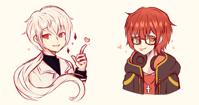 Zen and Seven by Seraphy-chan