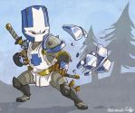 the blue knight by jouste