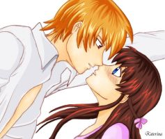 First Kiss COLORED by Luvya9876