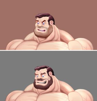 Bluto partial - full beard by Blathering