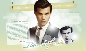 Taylor Lautner layout by London-Art