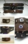 Leather d20 Bracelets by KelsMcQuillen