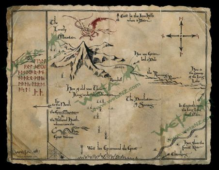 Thorin's Map by MotherOfDragons64