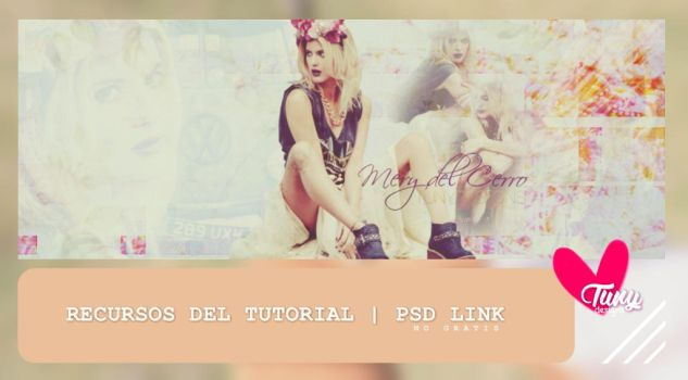 Portada FLOWERS | vintage | +psd by TunyDesigns