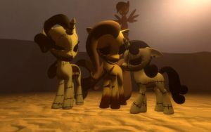 Overhauled gority, killerbelle and amnesiashy (DL) by bronyXD